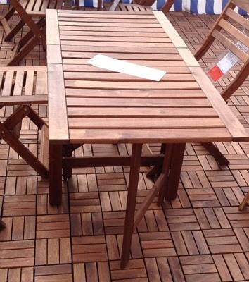 ÄPPLARÖ ゲートレッグテーブル