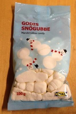 GODIS SNÖGUBBE クリスマス・マシュマロキャンディ