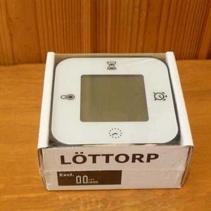 LÖTTORP 置き時計/温度計/アラーム/タイマー
