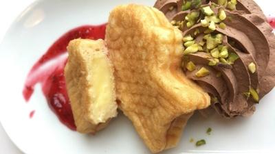 (名無し)さん[2]が投稿したサーモンの形のパンケーキの写真